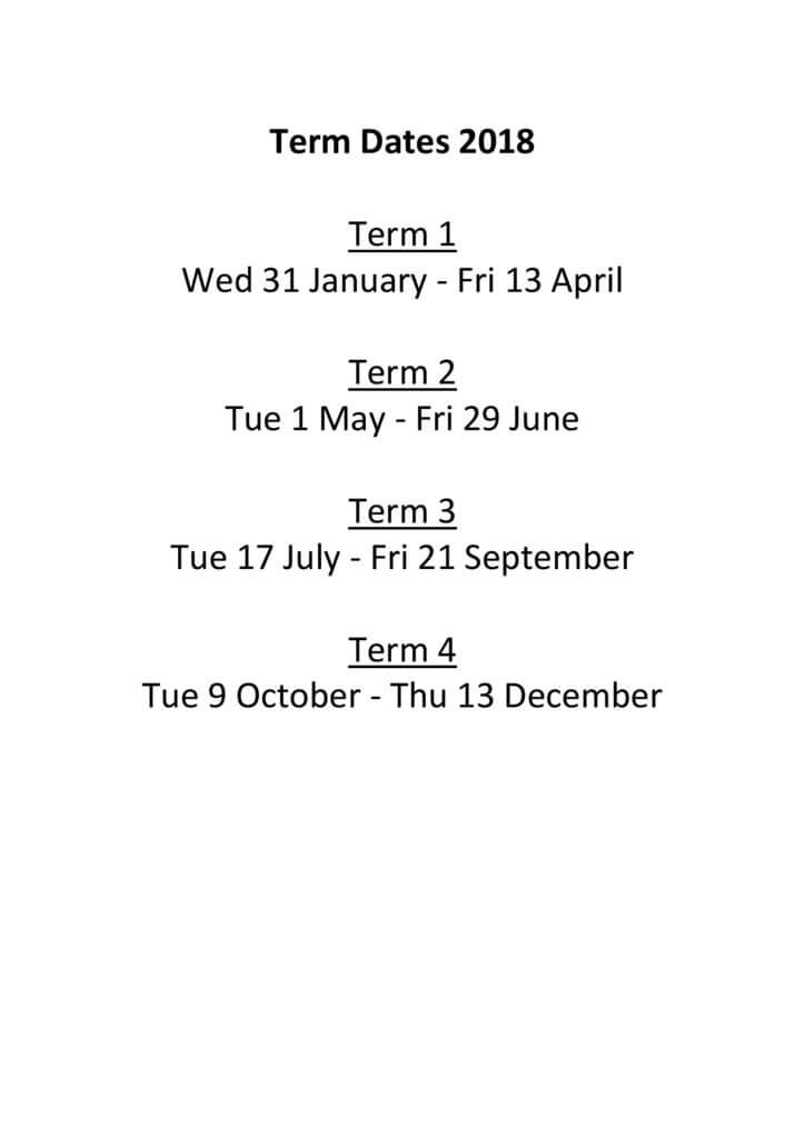 thumbnail of Term Dates 2018A