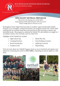thumbnail of Netball Flyer