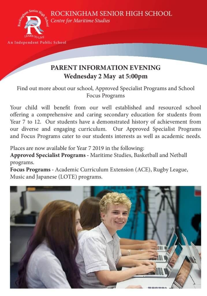 thumbnail of Parent Information Evening
