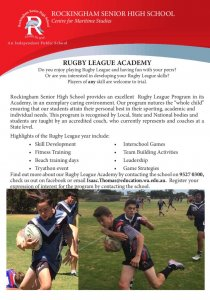 thumbnail of Rugby Flyer
