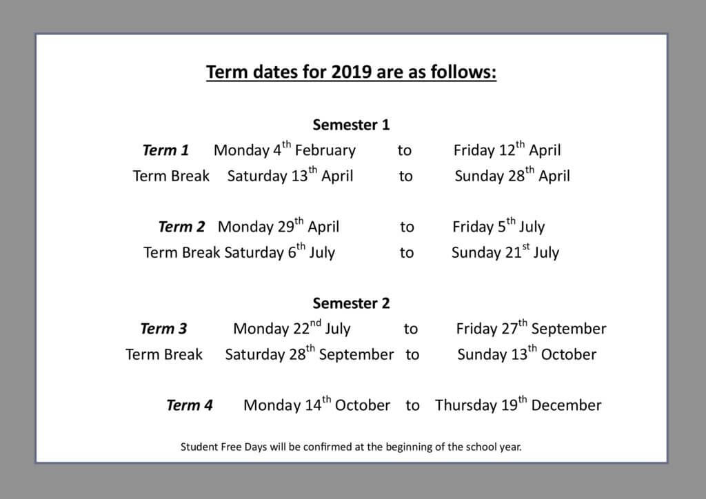 thumbnail of Term Dates 2019